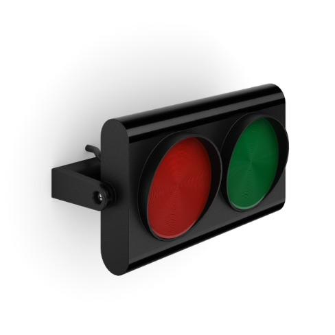 semaforo 2 luci in orizzontale con staffa